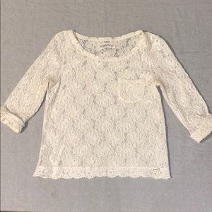 White Lace Abercrombie Top